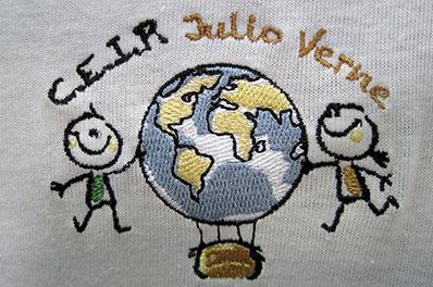 detalle bordado CEIP Julio Verne
